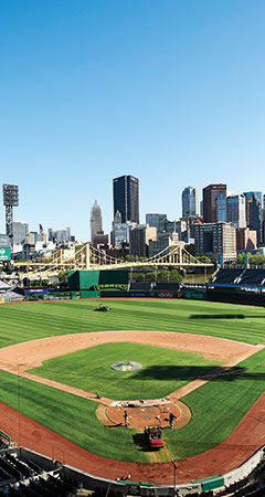 Aerial view of PNC Park